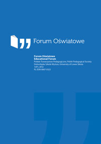 Forum Oświatowe, Vol 2, No 49 (2013), Tutoring, coaching, mentoring ...